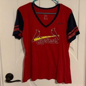 EUC Nike St Louis Cardinals Red Blue Raglan